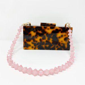 Closet Rehab Bags - Geometric Short Acrylic Purse Strap in Pink